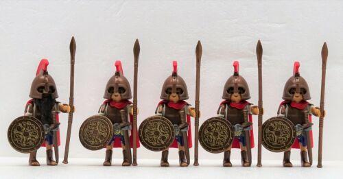 Grec Guerrier Elite Playmobil pour Sparta Romain Grecs Ares Bronze 5 X Grieche