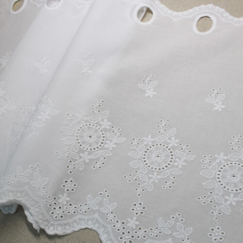 1y Cotton Embroidered lace Window Valance curtain yh1425 laceking2013 90x33cm