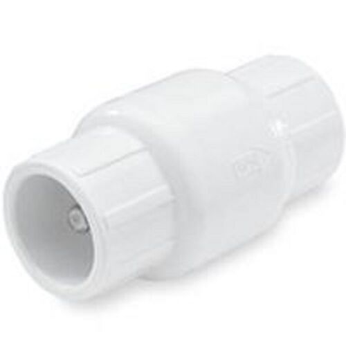 """NEW NDS FLOW CONTROL 1 1//4/"""" PVC SLIP GLUE ON SCH 40 SPRING CHECK VALVE 6291371"""