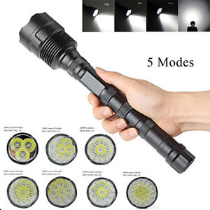 Tactical-Police-40000Lumens-CREE-XML-T6-LED-5Modes-Flashlight-Torch-Super-Bright