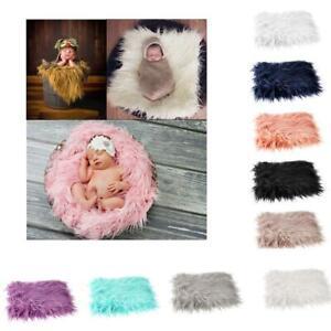 Baby Newborn Faux Fur Photography Photo Props Blanket Basket Stuffer Rug