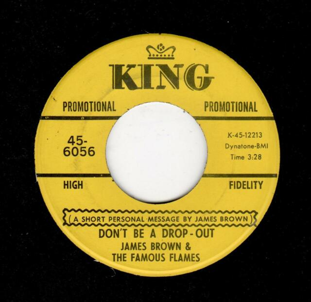 FUNK-RARE PROMO-JAMES BROWN-DON'T BE A DROPOUT (WITH A