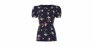 Navy-Therapy-Small-Floral-Shell-Top-Ladies-UK-Size-12-Box22-04-C