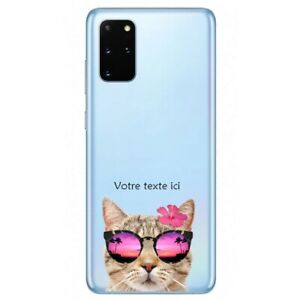 Coque Galaxy Note 10 LITE chat lunettes personnalisee