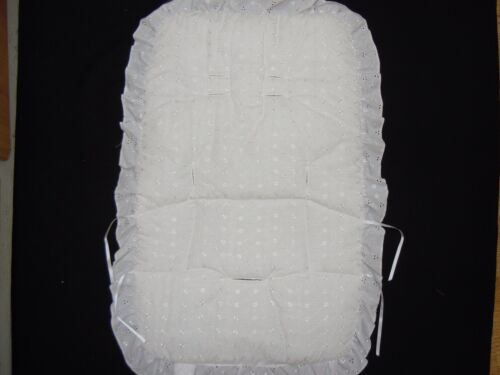 BEAUTIFUL  PRAM    UNIVERSAL FIT  BUGGY LINER  COLOUR  WHITE