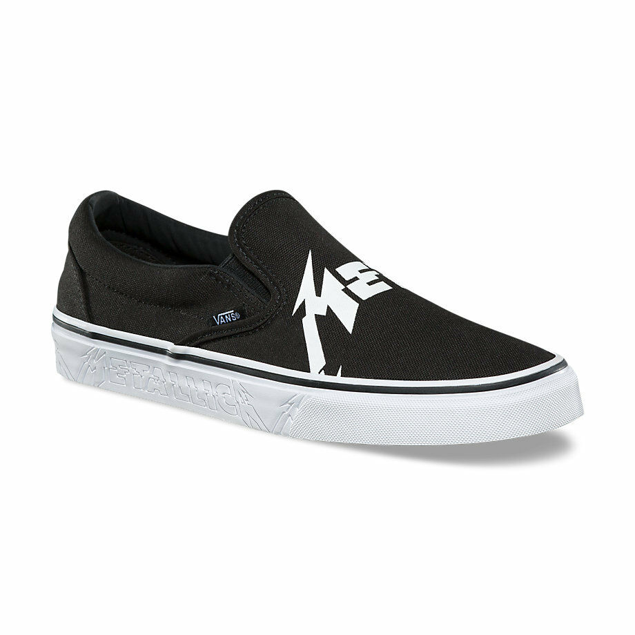 VANS x METALLICA Classic Slip-On shoes (NEW) Black   HARDWIRED TO SELF DESTRUCT