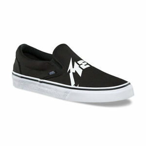 b7db62bc13 VANS x METALLICA Classic Slip-On Shoes (NEW) Black   HARDWIRED TO ...