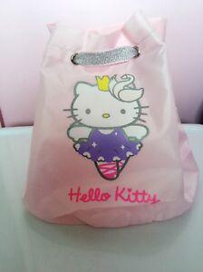 Women Girls Kids PINK Dance hello kitty Travel Beach Swim String shoulder Bag