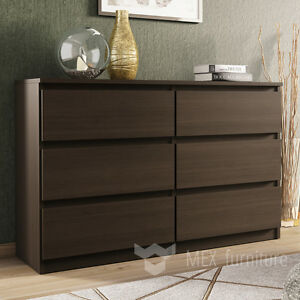 modern wenge chest of drawers 6 drawers bedroom 18537 | s l300