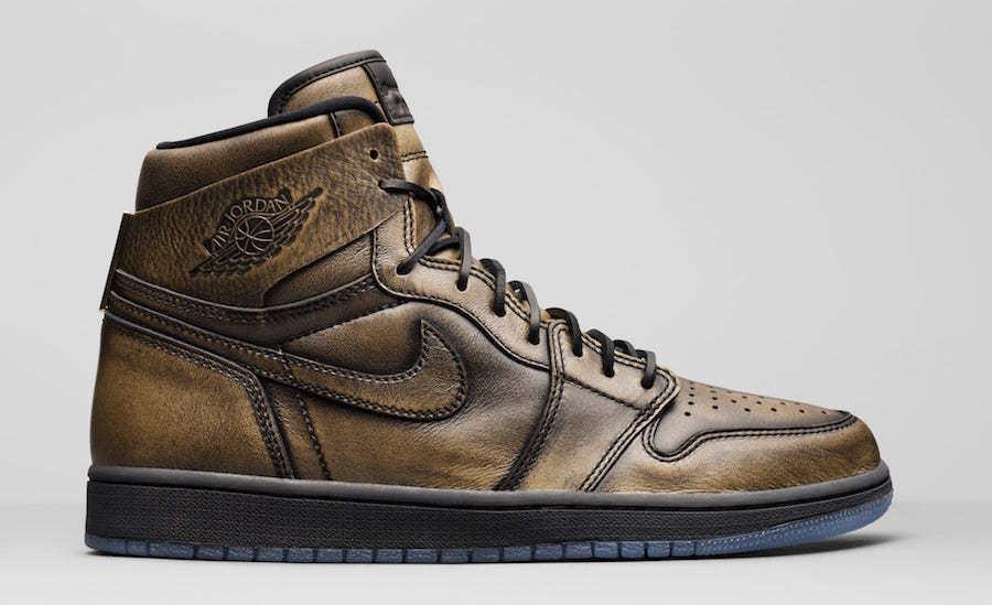 Nike Air Jordan 1 Retro High Wings Metallic Gold AA2887-035 Comfortable Casual wild