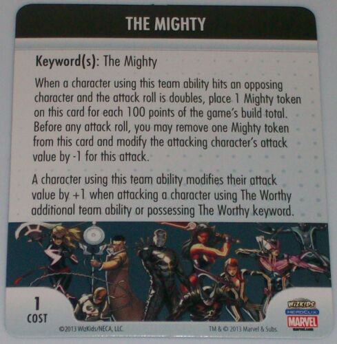 THE MIGHTY//THE WORTHY Fear Itself Marvel HeroClix ATA OP LE