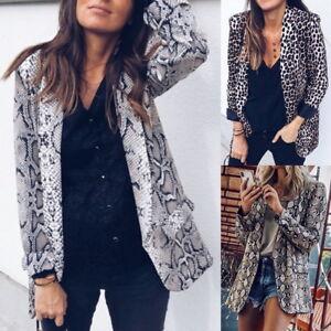 US-Womens-Long-Sleeve-Leopard-Print-Suit-Jacket-Slim-Fit-Single-Breasted-Blazer