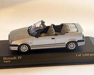 Renault-19-Cabrio-1992-Silber-Met-Minichamps-1-43