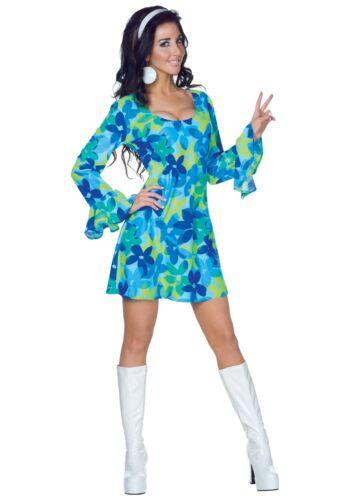 Adult 70s Wild Flower Dress Costume