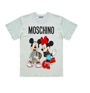 c641b813 Moschino x H&M x Jeremy Scott Disney Mickey and Minnie Mouse T Shirt ...