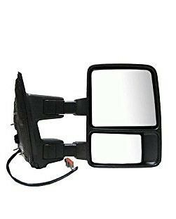 Passenger Side Mirror for Ford F250 F350 F450 Power Heated Towing Smoked Signal