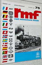 RMF RAIL MINIATURE FLASH N°75 1968 TRAINS LOCOMOTIVES HO BR-50 JOUEF MÄRKLIN