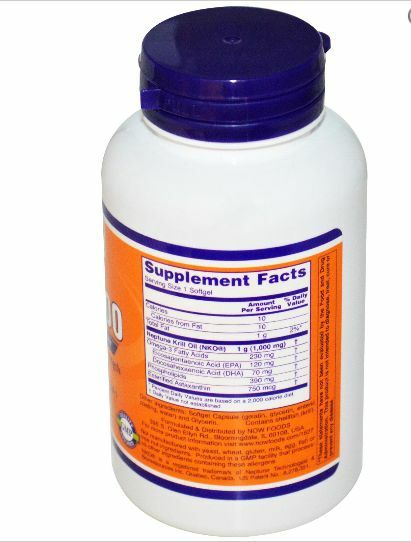 Now Foods, Neptune 1000, Krill 1000, Neptune 60 gélules 8dc350