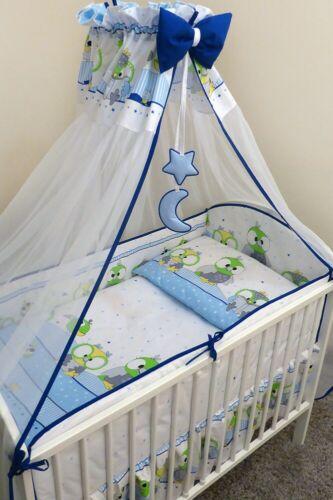 Bettset Baby 8-9 tlg Bettwäsche Nestchen Himmelstange 120x90 Papagaei ❤️NEU 2019