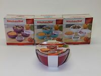 Kitchenaid 4 Pc Prep Bowls W/lids Various Colors Available Dishwasher Safe