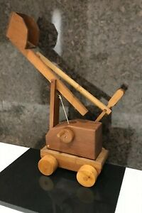 Folk-Art-Hand-Made-Wood-Trabuchet-Castle-Toy-Catapult-Retail-Bar-Prop-Decor-21