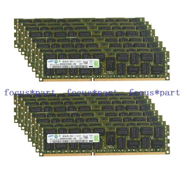 Samsung 128GB 16X8GB PC3-12800R DDR3-1600MHZ SERVER ECC REG Memory 2RX4 Moudle