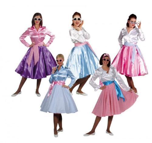 50er ANNI ROCK /'N Roll Gonna Costume PETTICOAT Rockabilly Polka danza Swing piatto