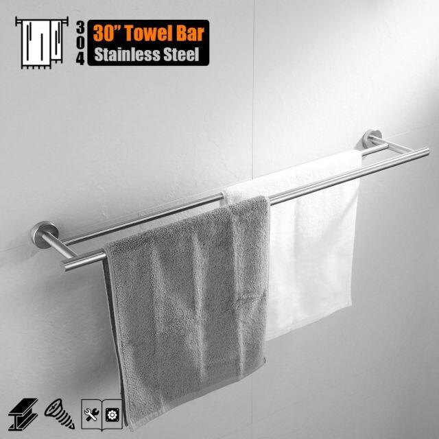 Buy Jqk Double Towel Bars Bath Bar 30 Inch Stainless Steel Rack For
