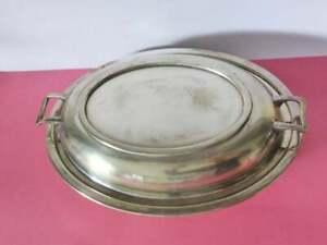 Antique-M-B-amp-Co-Silver-Plated-Tureen-EPNS-Lidded-Serving-Platter-1900-039-s