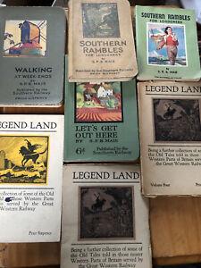 7-Vintage-Southern-Railway-Books-SPB-Mais-Legend-Land-Great-Western-Trains-Walks