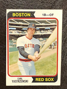1974-Topps-Carl-Yastrzemski-Card-280-EX-NM-HOF-Boston-Red-Sox
