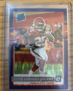 Clyde Edwards-Helaire 2020 Donruss Optic Purple Shock Rated Rookie #171 MINT