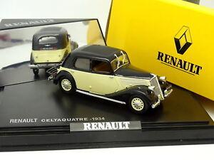 Norev-1-43-Renault-Celtaquatre-1934-Noire-et-Blanche