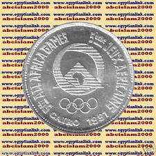 """1991 Egypt Egipto مصر Ägypten Silver Coin""""African Games-Cairo 1991""""5 P,#KM700"""