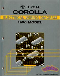 SHOP MANUAL COROLLA 1996 ELECTRICAL SERVICE REPAIR WIRING DIAGRAM SCHEMATIC    eBayeBay