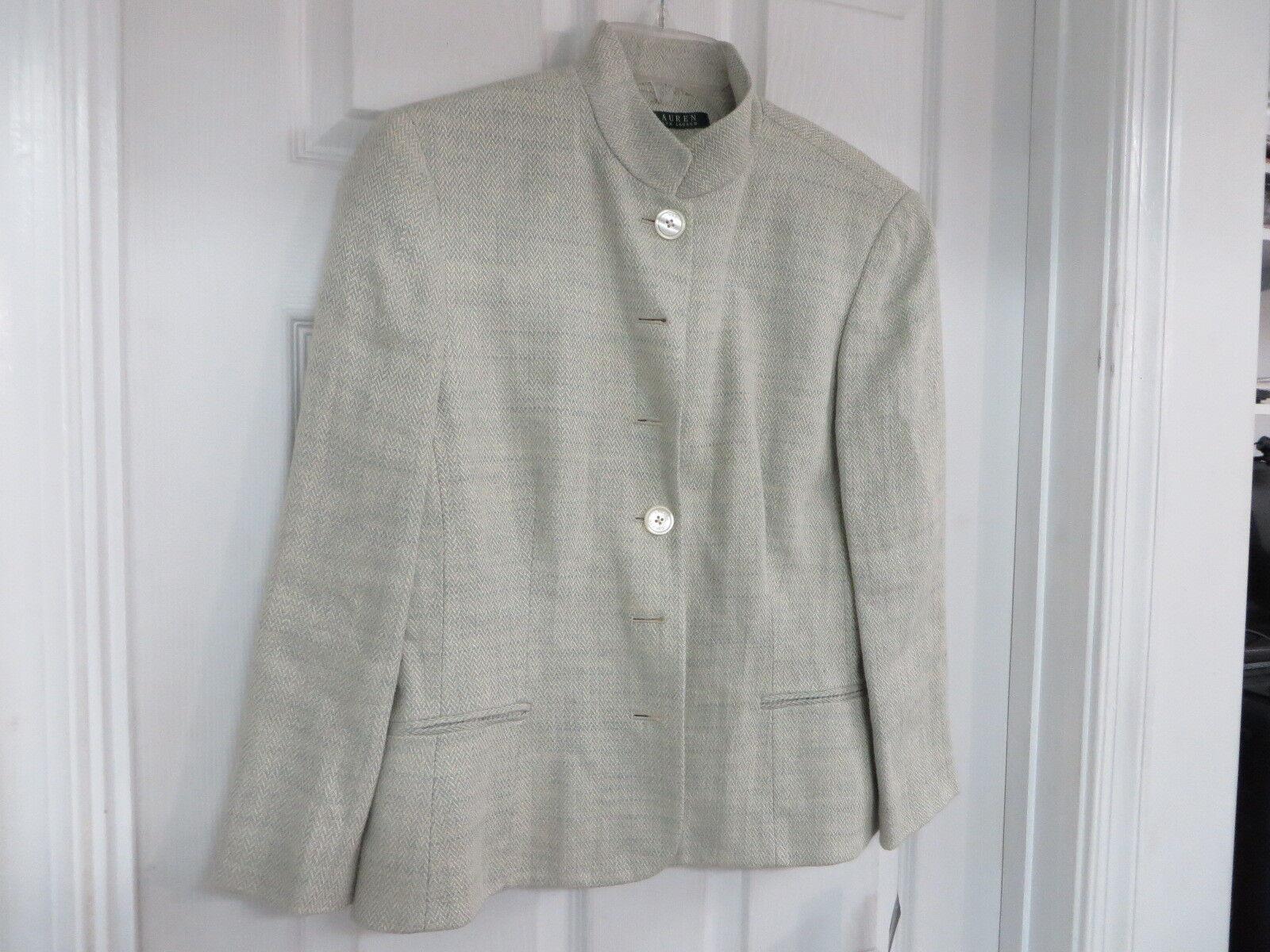 NWT  260 Ralph Lauren Linen Tweed Blazer grön 12