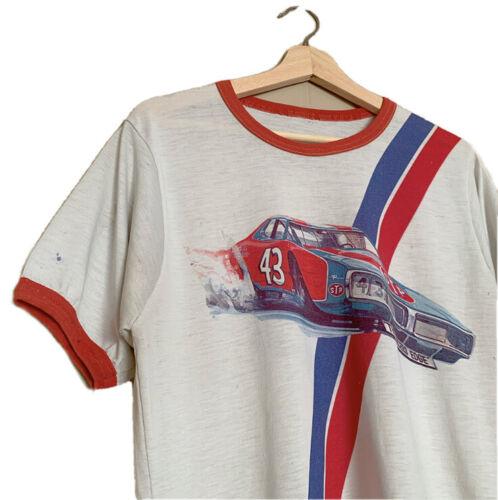 Vintage 1970's STP Racing Ringer T Shirt
