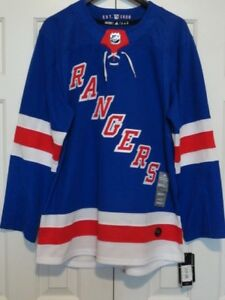 New! Mens ADIDAS AdiZero NHL NEW YORK RANGERS AUTHENTIC HOCKEY ... 511379adaea