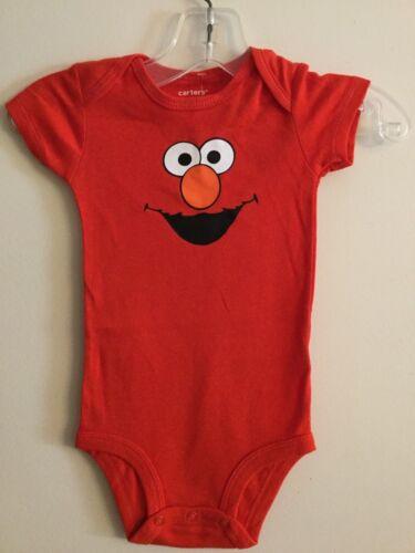 ELMO Sesame Street Short Sleeve Custom Baby One Piece Bodysuit