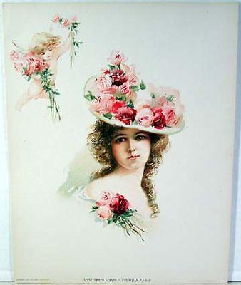 Sybil Sanderson-American Songbird//Actress 1903 Victorian Color Litho 10x13 Print