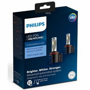 Philips-Xtreme-Ultinon-LED-Headlight-Foglight-Car-Bulbs-H8-H11-H16-Twin