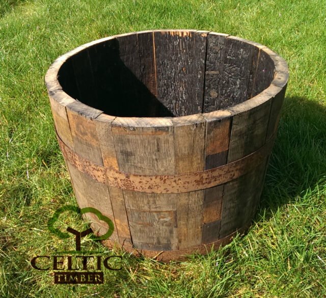 Oak Whiskey Barrel Planter Small Garden Flowers Plant Pot Delivery