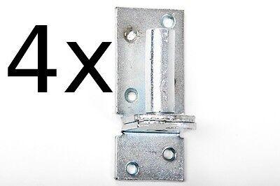 4 Stück Kloben elektrisch verzinkt D 1, 16 mm für Ladenband Plattenhaken Haken