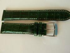 Zenith men's swiss made leather strap dark green emerald crocodile skin