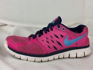 online retailer 4e425 a04cf Details about NIKE Fitsole Running Sneaker Shoe Pink Navy Blue 580440-601  Womens 8.5 M Sneaker