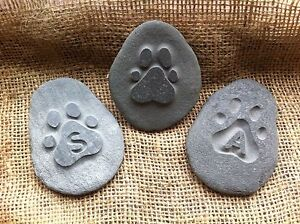 Hand-made-amp-carved-Pet-memory-pebble-garden-memorial-unique-plaque-dog-urn