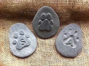 Hand carved Pet memory pebble, garden memorial, unique plaque, cat, dog, rabbit