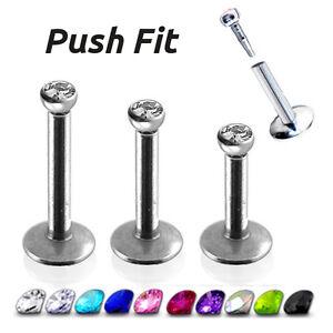 Piercing-Brillantino-Push-Fit-a-Incastro-Acciaio-Chirurgico-Trago-Labbro-16G