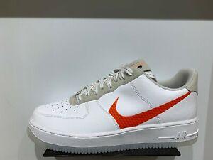 NIKE AIR FORCE 1 Low '07 LV8 3 White Total Orange Men Size 7-13