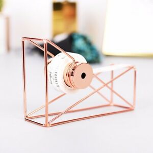 Useful-Rose-Gold-Stationery-Metal-Tape-Holder-Tape-Cutter-Office-Tape-Dispenser